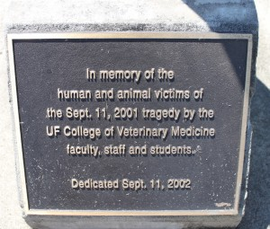 Photo of the 9.11.2001 Memorial Plaque