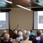 Dr. Michael Schaer gives a presentation to Oak Hammock residents during a visit to the college on Oct. 10.