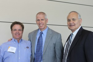 Dr. Rich Kane, Jeremy Foley and Dean Glen Hoffsis.