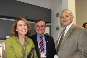 Dr. Pam Ginn, Dr. Colin Burrows and Dean Glen Hoffsis.