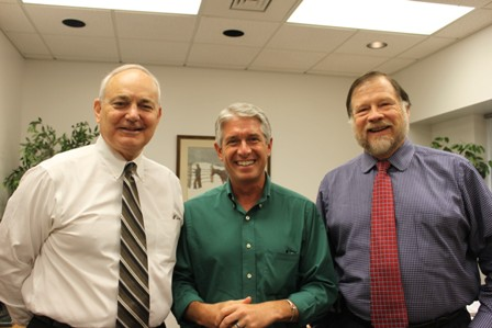 Dean Glen Hoffsis, Dr. Mark Stetter and Dr. John Harvey
