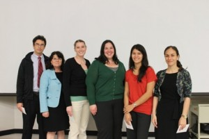 Graduate student winners are shown at Phi Zeta Day on March 5.