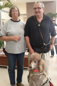 Richard Roth and service dog