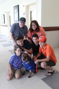 The Schmitt family with Cali.