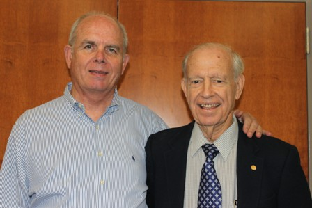 Dr. Bernie Machen, president of the University of Florida, and Dr. Paul Nicoletti.