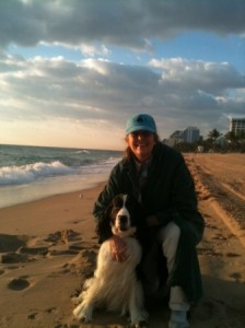 Heather Reed with Harrison on the beach in South Florida