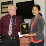 Dr. Ammon Peck with Poonam Jaiswal.