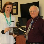 Katherine Saylor with Dr. Ammon Peck.