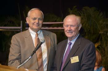 Dean Glen Hoffsis and Dr. Donald Morgan