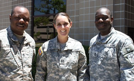 Dr. Julia Alvarez with Army recruiters.