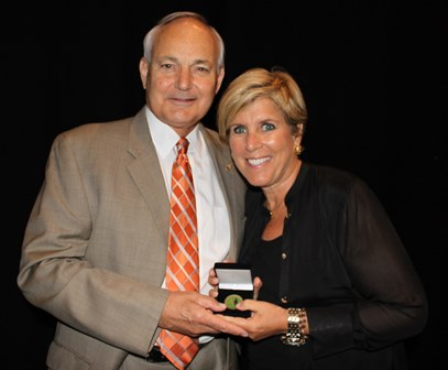 Dean Glen Hoffsis with Suze Orman