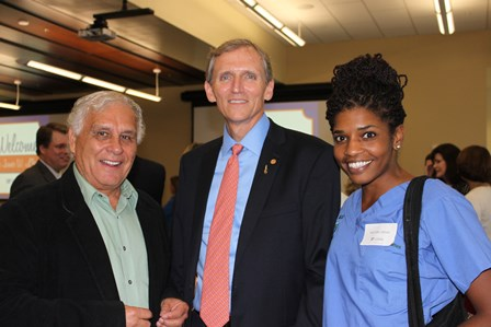 Dean Lloyd with Dr. Carlos Romero and Michele Janicki