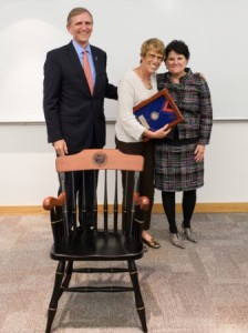 Dean James W. Lloyd with Dr. Maureen Long and Joan Audette