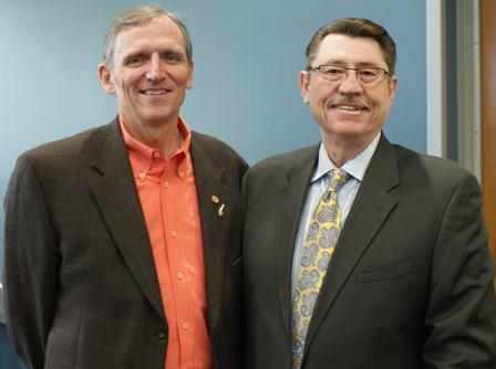 Dean Jim Lloyd and Dr. Jerry Rayburn at VBMA seminar.