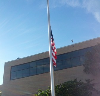 Flag at half-staff on 9/11/2014