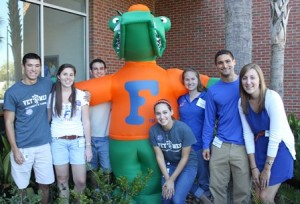 Veterinary student ambassadors pose for a photo during Homecoming 2014.
