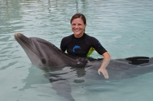 Amanda Ardente and dolphin