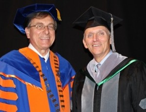Dean Lloyd and President Fuchs