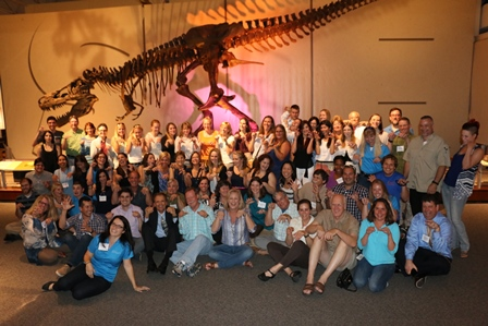 Participants in Marine Mammal Conference pose for a group shot at the Florida Museum of Natural History. (Photo courtesy of Dr. Tom Waltzek)