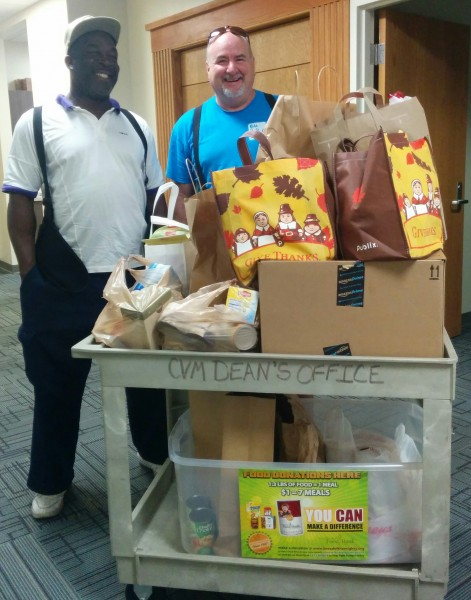 Food Drive in progress 2015