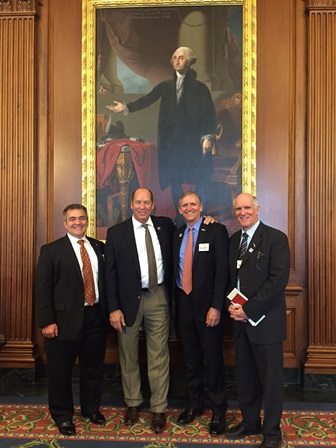 Dean Lloyd with Congressman Yoho and Drs. Milner and Winter