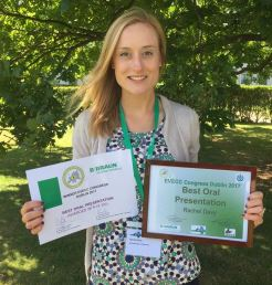Rachel Davy with her awards.